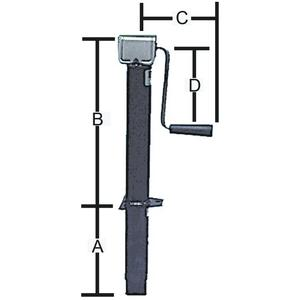 Bal Products Div Nco 29025B Side Wind A-Frame Tongue Jack (Bal)