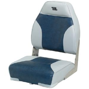 Wise Seat 8WD588PLS664 HIGH BACK BOAT SEAT / HIGH BACK GRAY/CHAR
