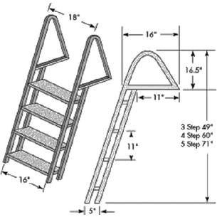 Tie Down Engineering 28274 GALVANIZED DOCK LADDER / DOCK LADDER