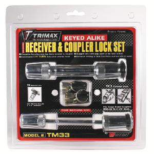 Trimax Locks TM33 Keyed Alike Receiver & Coupler Lock Set