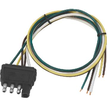 Wesbar 707286 4-WAY ELECTRIC WIRE HARNESS CONNECTOR / TRAILER CO
