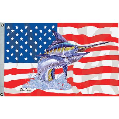 Taylor 32-1954 Carey Chen Us Fish Flag