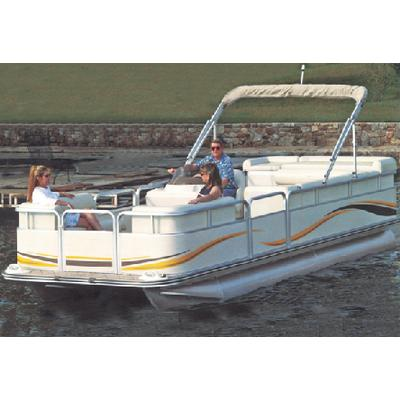 Carver 77524P PONTOON WITH FULLY ENCLOSED DECK & BIMINI TOP / FE