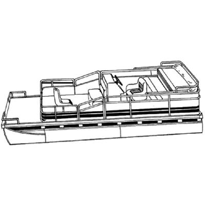 Carver 77624P PONTOON WITH PARTIALLY ENCLOSED DECK & BIMINI TOP