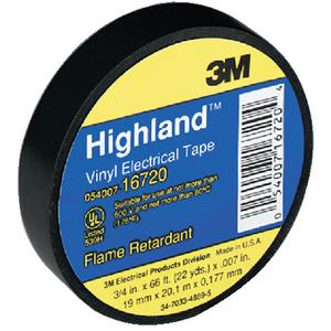 3M Marine 16720 HIGHLAND BRAND ELECTRICAL TAPE / ELECTRICAL TAPE